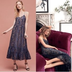 NWT Anthro Celestial Lace Maxi Dress